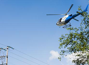 Helicopter linjebefaring