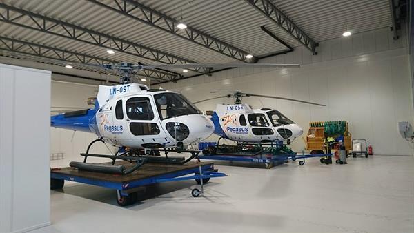 Helikopter hangar Pegasus