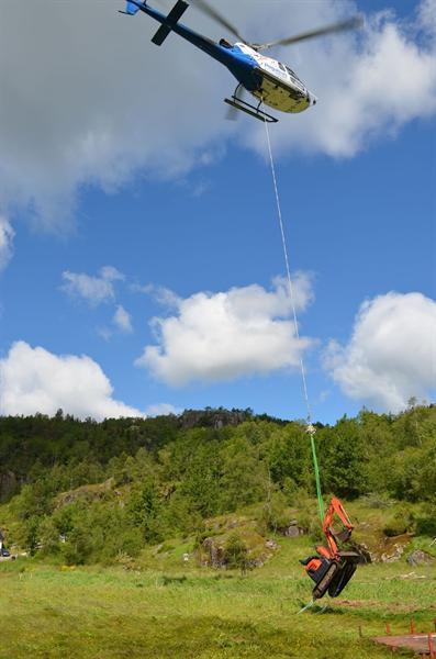 Helicopter lasteflyging entreprenør