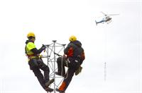 Helicopter lasteflyging telecom